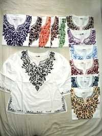 Cotton Embroidery Ladies Tops
