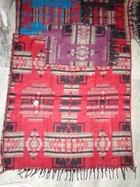 TIBETAN PRINTED WOOLEN SHAWLS FROM INDIA
