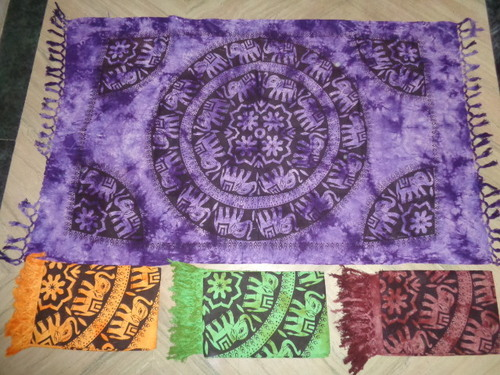 COTTON PRINTED BEACH SCARVES