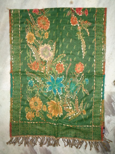 WOOLEN SHAWLS WITH EMBROIDERY WORK