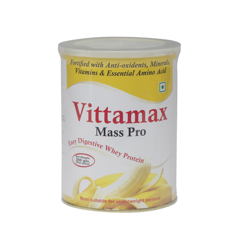 Vittamax Mass Gainer Banana 200 gm.