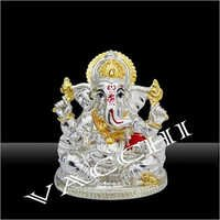 Silver Plated Ganesha God Idol