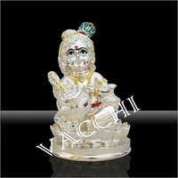 Silver Plated Matki Krishna