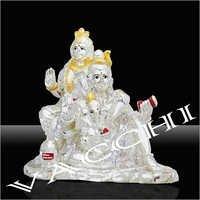 Silver Plated Shiv Pariwati