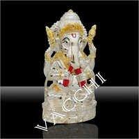 Silver Plated Bansuri Ganesha Statue