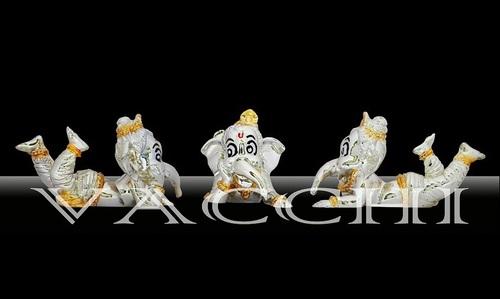Silver Plated Bal Ganesha Idol