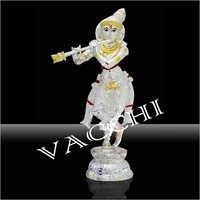 Silver Plated Bansuri Krishna