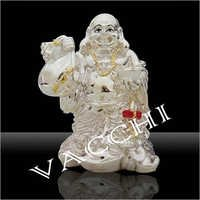 Silver Plated Laughing Budha