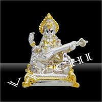 Silver Plated Saraswati Ji
