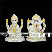 Silver Plated Laxmi Ganesha