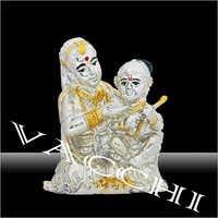 Silver Plated Yashoda Nandan Statue