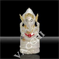 Silver Plated Dhaga Ganesha