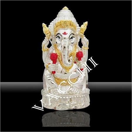 Silver Plated Chankana Ganesha