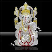 Silver Plated Mala Ganesha