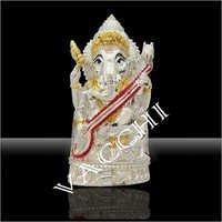 Silver Plated Sitar Ganesha