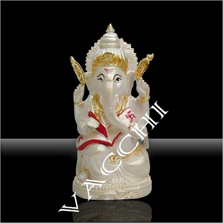 Silver Plated Account Ganesha Statue