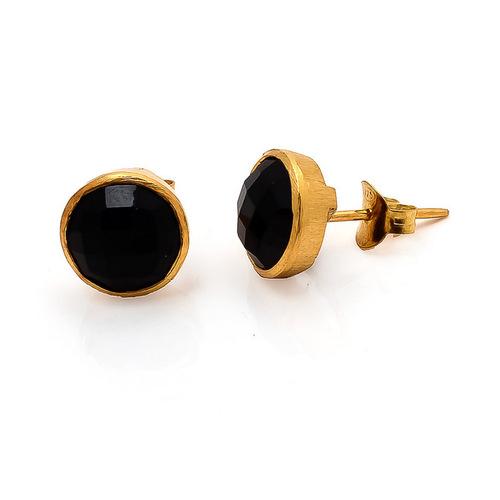 Black onyx Gemstone  Studs