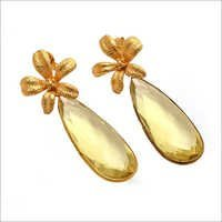 Lemon Topaz Gemstone earrings
