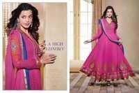 Designer Embroidered Work Anarkali Suit