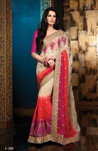 Beautiful multicolor saree 2806