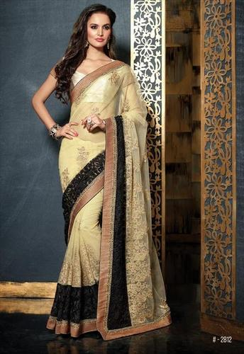 Elegant Cream Partywear saree 2812