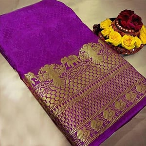sethnic plain saree with zari border wholesale