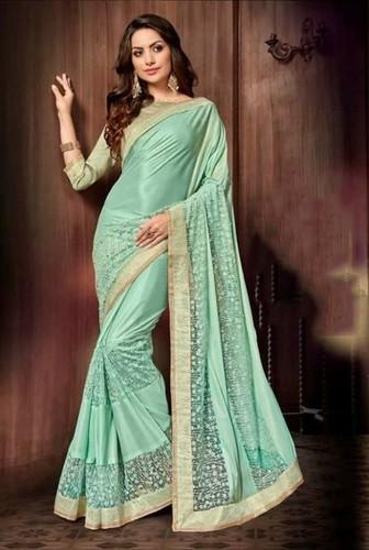 Sethnic Shreeram Blossom Sarees Lycra Net