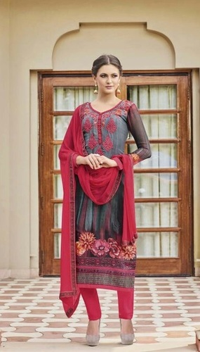 Multi-Color Georgette Festive Wear Salwar Suit