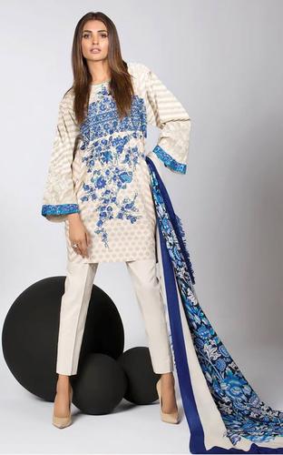 White Georgette Designer Pakistani Salwar Suit