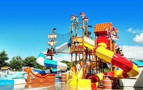 5 Platform Jungle Theme Water Play System