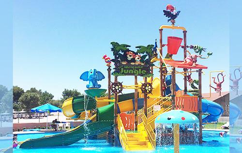 Jungle Theme Water Play System 4 Platform
