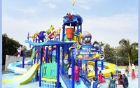 5 Platform Jungle Theme Water Play System