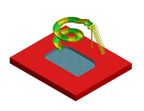 Swimming Pool Slide