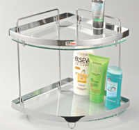Glass Corner Shelves