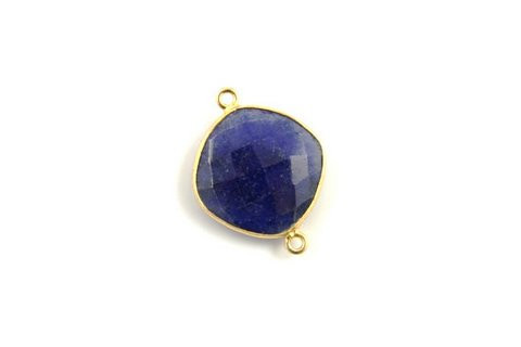 Dyed Sapphire Gemstone connectors