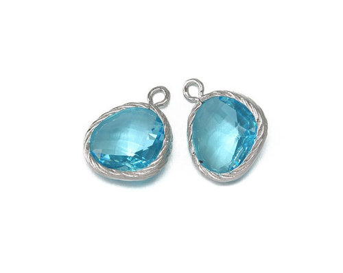 Blue Topaz Gemstone Connector