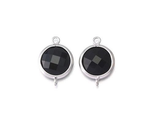 Black onyx Gemstone Connector