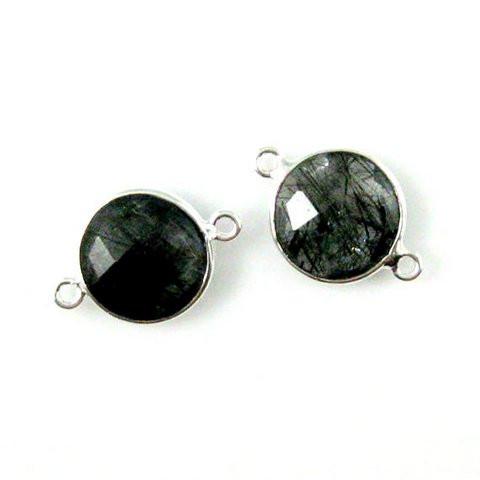 Black Rutile Gemstone Connector