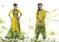 Designer Yellow And Green Punjabi Summer Wear Suit
