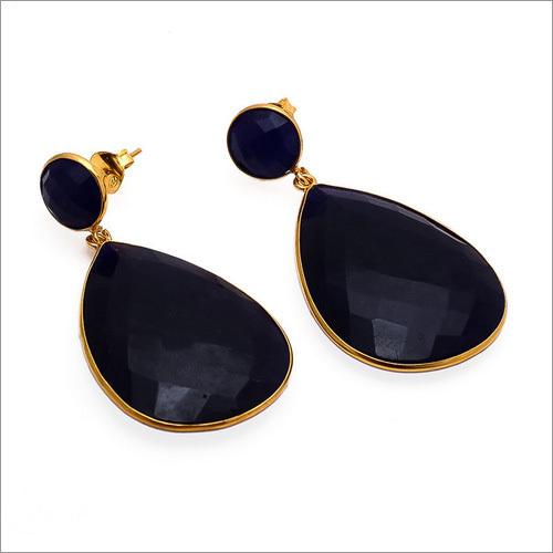 Dyed Sapphire Gemstone Earrings