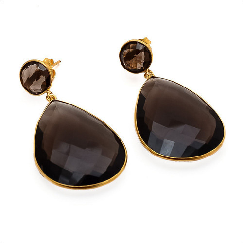 Smoky Topaz Gemstone Earrings