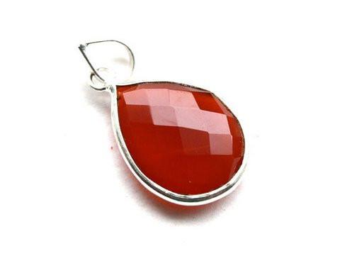 Orange Chalcedony Gemstone Pendant