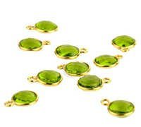 Peridot Gemstone Connectors