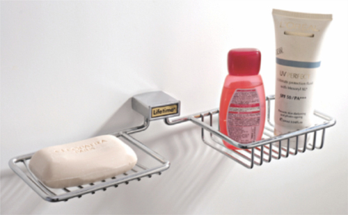Soap Dish With Bottle Holder