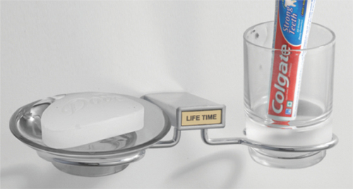 Soap Dish With Glass Holder