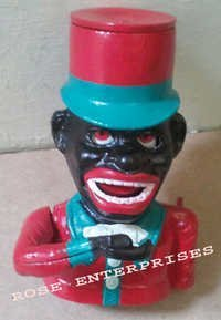 Jolly Nigger Americana Mechanical & Greedy Boy Bank Cast Iron