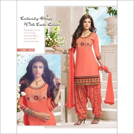 Cotton Orange summer salwar suit 2655