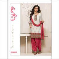 Elegant White Cotton White Cotton Punjabi Suit 266