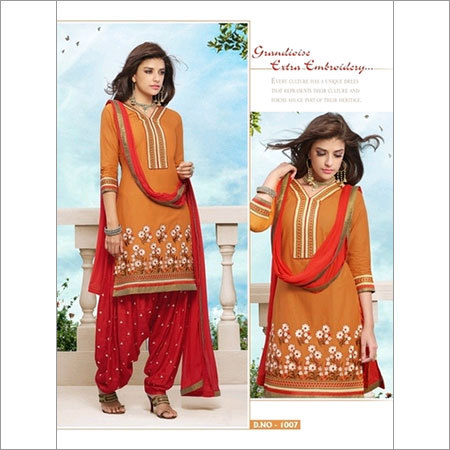 Punjabi cotton daily wear salwar kameez 1007