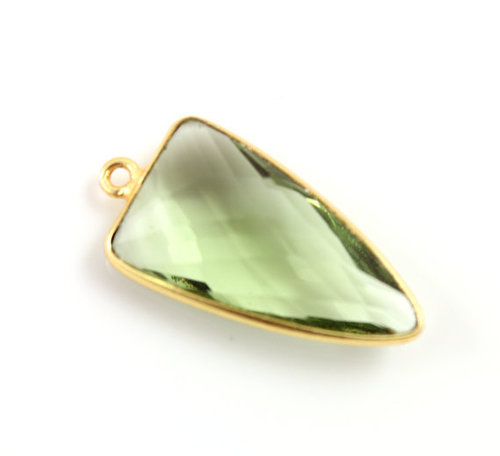 Green Amethyst Gemstone Connector